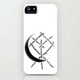 Crescent Moon Rune Binding at Midnight iPhone Case