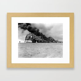 Zeppelin crash (Hindenburg) Framed Art Print