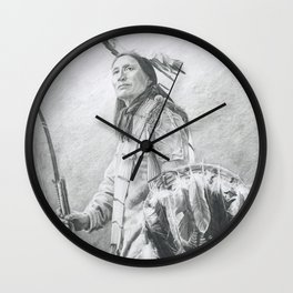 Taopi Ota - Lakota Sioux Wall Clock