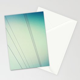 Power lines.  Stationery Cards