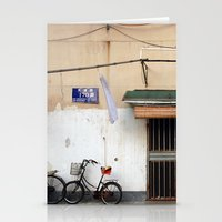china Stationery Cards featuring CHINA by Sara Ahlgren