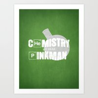 chemistry Art Prints featuring Chemistry by 5eth