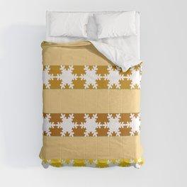 Christmas pattern - Golden Combi Comforters