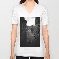 edinburgh V-neck T-shirts featuring Edinburgh by Jane Lacey Smith
