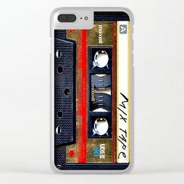 Retro classic vintage gold mix cassette tape Clear iPhone Case