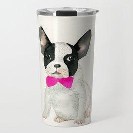 French bulldog with bow tie Travel Mug