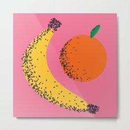 Banana + Orange Metal Print