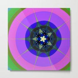 Fract6al Design - Stars and Circles II Metal Print