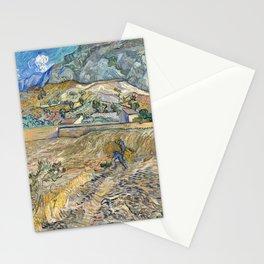 Landscape at Saint-Rémy by Vincent van Gogh Stationery Cards