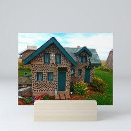 Green Gabled Bottle House Mini Art Print