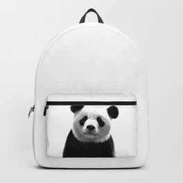 Black and white panda portrait Backpack