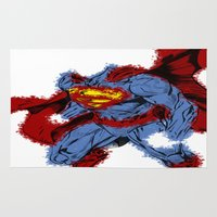 man of steel Area & Throw Rugs featuring Man Of Steel by alsalat