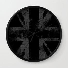 UK flag Vintage Gray Wall Clock