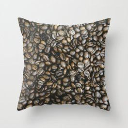 Coffee beans in Colombia Throw Pillow