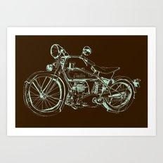 Vintage Indian Motorcycle Art Print