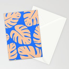 Monstera Leaf Print 5 Stationery Cards