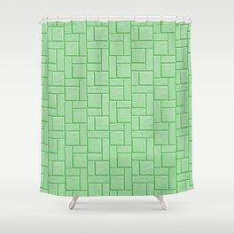 Green Block Shower Curtain