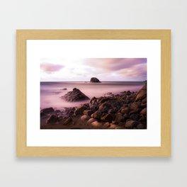 Black Rock, Widemouth Bay, Bude, Cornwall, England, UK Framed Art Print