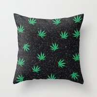 weed Throw Pillows featuring Weed by jajoão