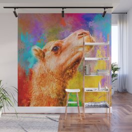 Jazzy Camel Colorful Animal Art by Jai Johnson Wall Mural