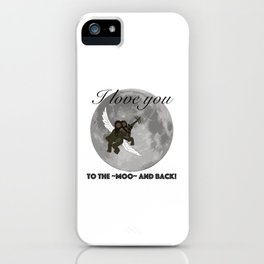 To The Moo And Back iPhone Case