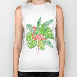 Flamingo Tropicale Biker Tank