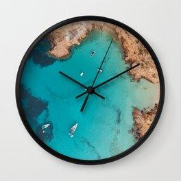 Aerial Ibiza Coast Wall Clock