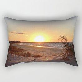 Off-Season Sunsets Rectangular Pillow