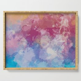 Bright Pastel Paint Splash Abstract Serving Tray