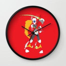 Zero (Mega Man X) Splattery Design Wall Clock