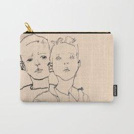 Egon Schiele - Three street boys Carry-All Pouch