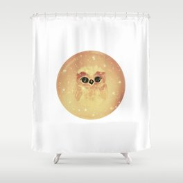 baby owl white Shower Curtain