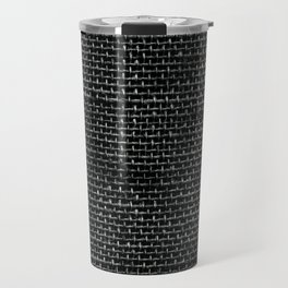 Black Burlap texture  Travel Mug