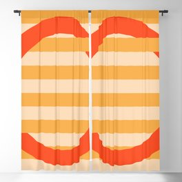 GEOMETRY ORANGE III Blackout Curtain