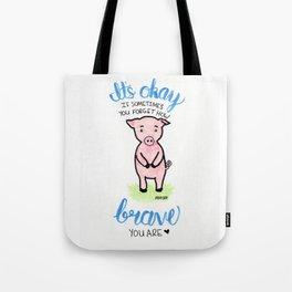 Brave Piggy Tote Bag