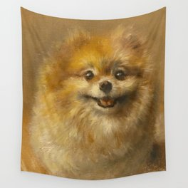 Pomeranian Painting #2 Wall Tapestry