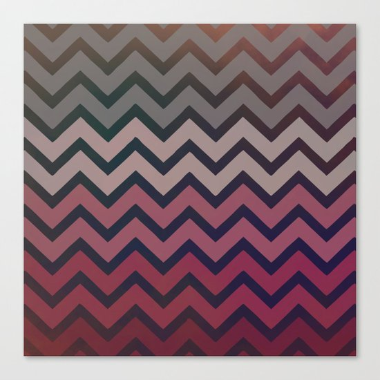 Pink Chevron Canvas Print