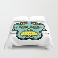 calavera Duvet Covers featuring Calavera  by Cody Wilkes-Booth