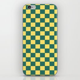 Checkers - Green and Yellow iPhone Skin