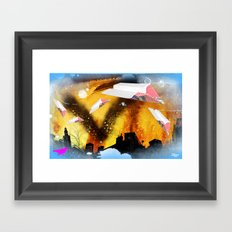 going to mexico Framed Art Print