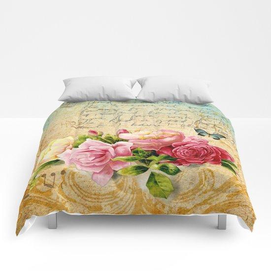 Vintage Roses #1 Comforters