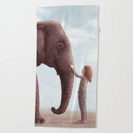 One Amazing Elephant Beach Towel