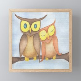 The Owl Lovers Framed Mini Art Print