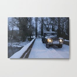 Landy on the Culm Metal Print