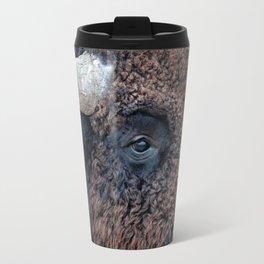 In The Presence Of Bison Travel Mug