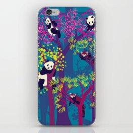Both Species of Panda - Blue iPhone Skin