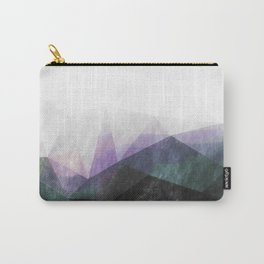 On the mountains - green watercolor - triangle pattern Carry-All Pouch