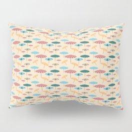 Retro beach parasol Pillow Sham
