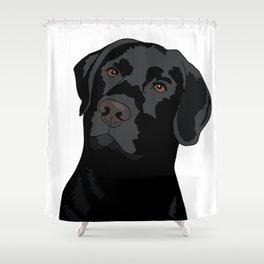 Duke the black lab Shower Curtain