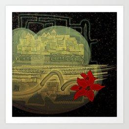 Bubble Euphorbia Pulcherrima Art Print